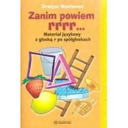 ZANIM POWIEM RRRR... - Materiał językowy z głoską r po spółgłoskach
