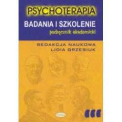 PSYCHOTERAPIA. BADANIA I SZKOLENIE