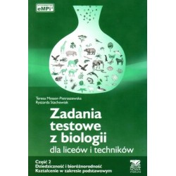 Zadania testowe z biologii część 2 Dziedziczność i bioróżnorodność
