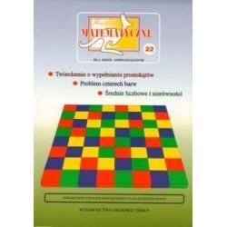 Twierdzenie o wypełnianiu prostokątów. Problem czterech barw. Średnie liczbowe i nierówności