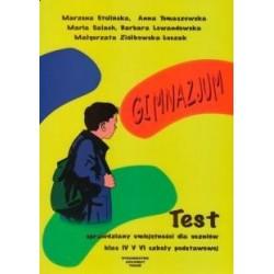 Test, sprawdziany umiejętności dla uczniów klas IV, V,VI Szkoły Podstawowej